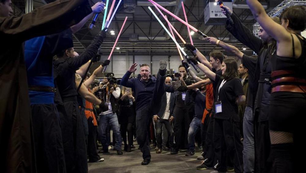 Ray Park, uno de los actores de la saga Star Wars, en la inauguracion de Expocómic 2016