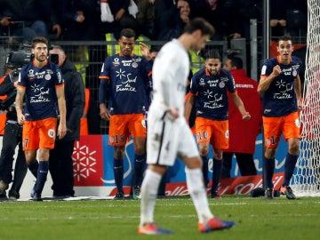 El Montpellier celebra un gol contra el PSG