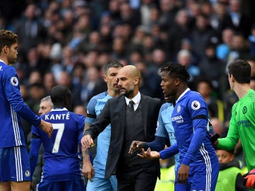 Guardiola, al finalizar el City-Chelsea