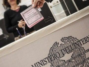 Votaciones en Italia