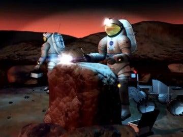 """Frame 69.426184 de: El proyecto con androides """"Valquiria"""" acondicionará el terreno de Marte ante la llegada del hombre"""