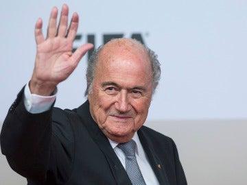 Joseph Blatter en un acto de la FIFA