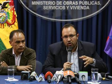El ministro de Obras Públicas boliviano, Milton Claros
