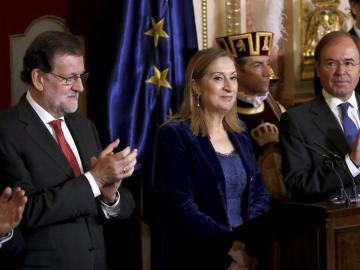 Mariano Rajoy en los actos por el aniversario de la Constitución