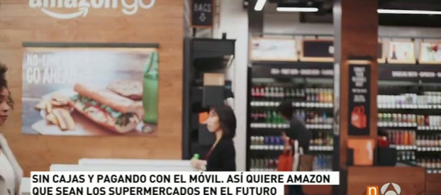 ANTENA 3 TV   Así funcionarán los supermercados de Amazon sin cajas ...