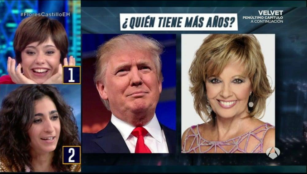 Frame 96.330472 de: Quién tiene más años, Donald Trump o María Teresa Campos