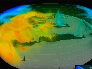Movimiento de los gases de efecto invernadero