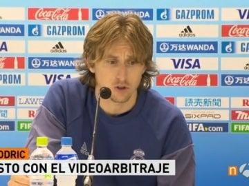 Luka Modric, en rueda de prensa