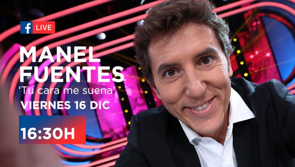 Mañana charlaremos en directo con Manel Fuentes en Facebook Live
