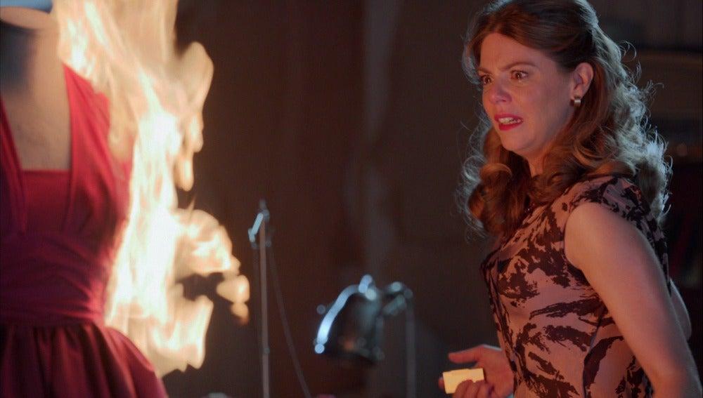 """Manuela: """"La escena del incendio tiene algo de catarsis"""""""