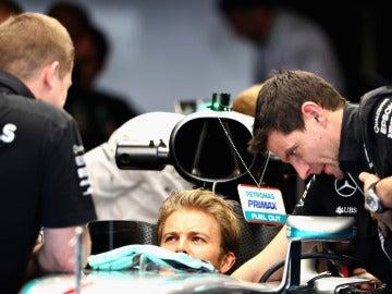 Rosberg, en el circuito de Yas Marina