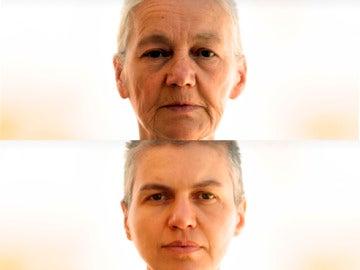 El rostro refleja el paso del tiempo
