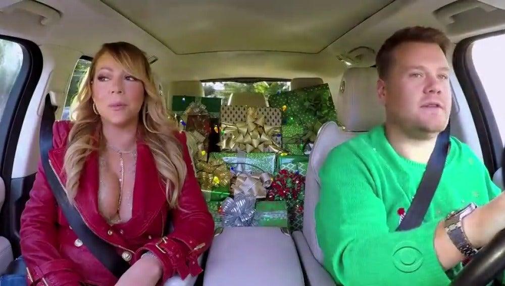Frame 6.315837 de: James Corden celebra la Navidad cantando villancicos en su 'Carpool Karaoke'