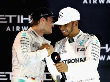 Nico Rosberg, con Hamilton