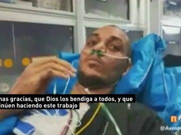Frame 0.542185 de: Los médicos de Neto, superviviente del Chapecoense, no descartan que vuelva a jugar al fútbol
