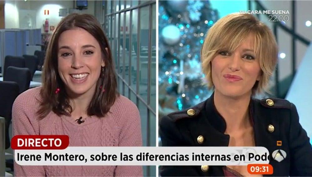 La portavoz adjunta de Unidos Podemos en el Congreso y jefa de gabinete de Pablo Iglesias, Irene Montero