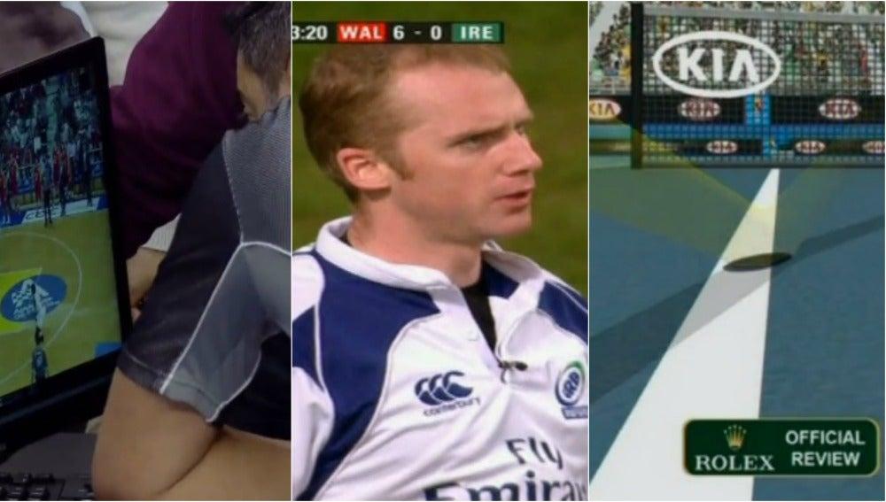 Videoarbitraje en diferentes deportes