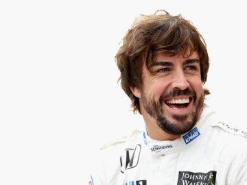 Alonso, sonriente