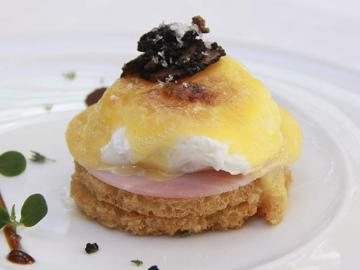Los huevos del brunch del Intercontinental.