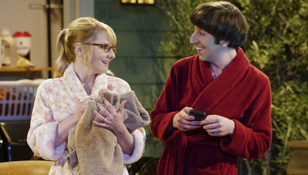 Bernadette y Howard en 'The Big Bang Theory'