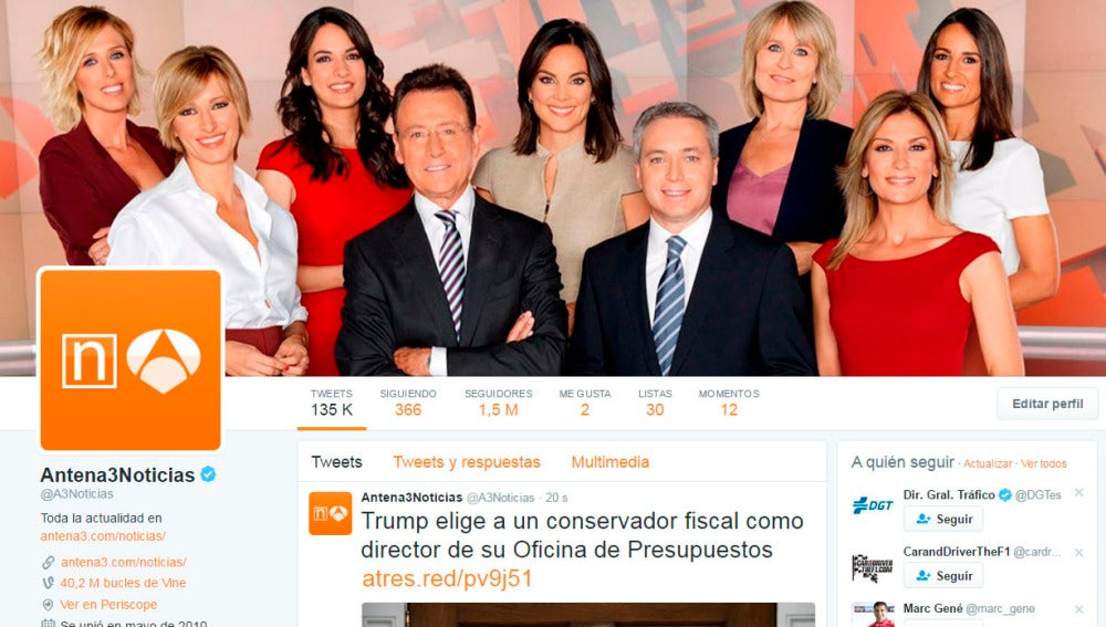 Twitter Antena 3 Noticias