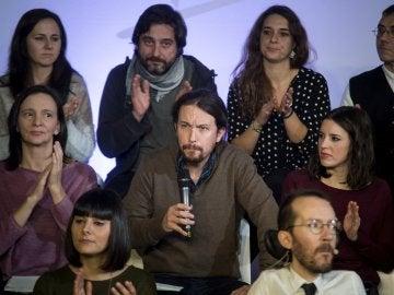 durante el acto de presentación de la propuesta 'Podemos para todas'