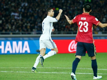 Cristiano celebra su gol ante el Kashima