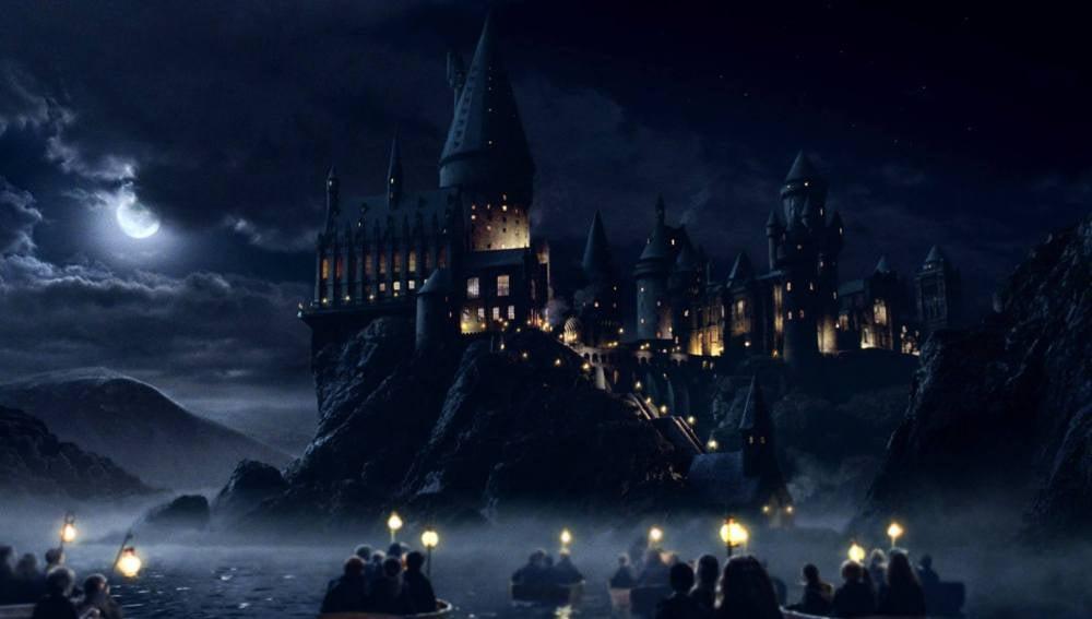 El castillo de Hogwarts en una de las películas de la saga