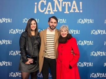 Andrea Compton, Paco León y Concha Velasco