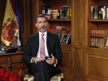 El rey Felipe, durante su discurso de Navidad