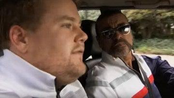 George Michael en 'Carpool Karaoke' con James Corden