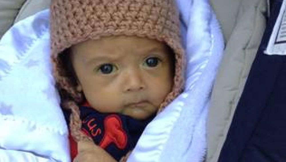 El bebé que recibió una donación de hígado