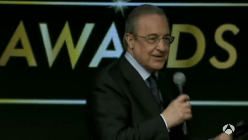 Florentino Pérez, en la gala de los Globe Soccer Awards