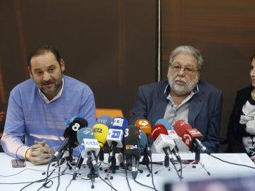 José Luis Ábalos, Francisco Toscano y Adriana Lastra