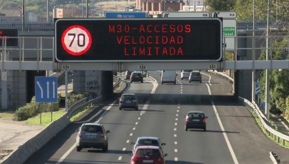 Limitaciones de velocidad en Madrid