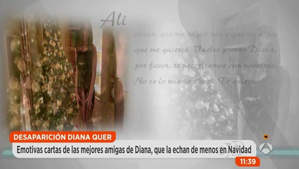 Antena 3 tv las emotivas palabras de las amigas de diana for Espejo publico diana quer