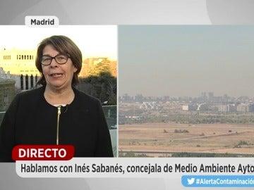 La concejal de Medio Ambiente de Madrid, Inés Sabanés