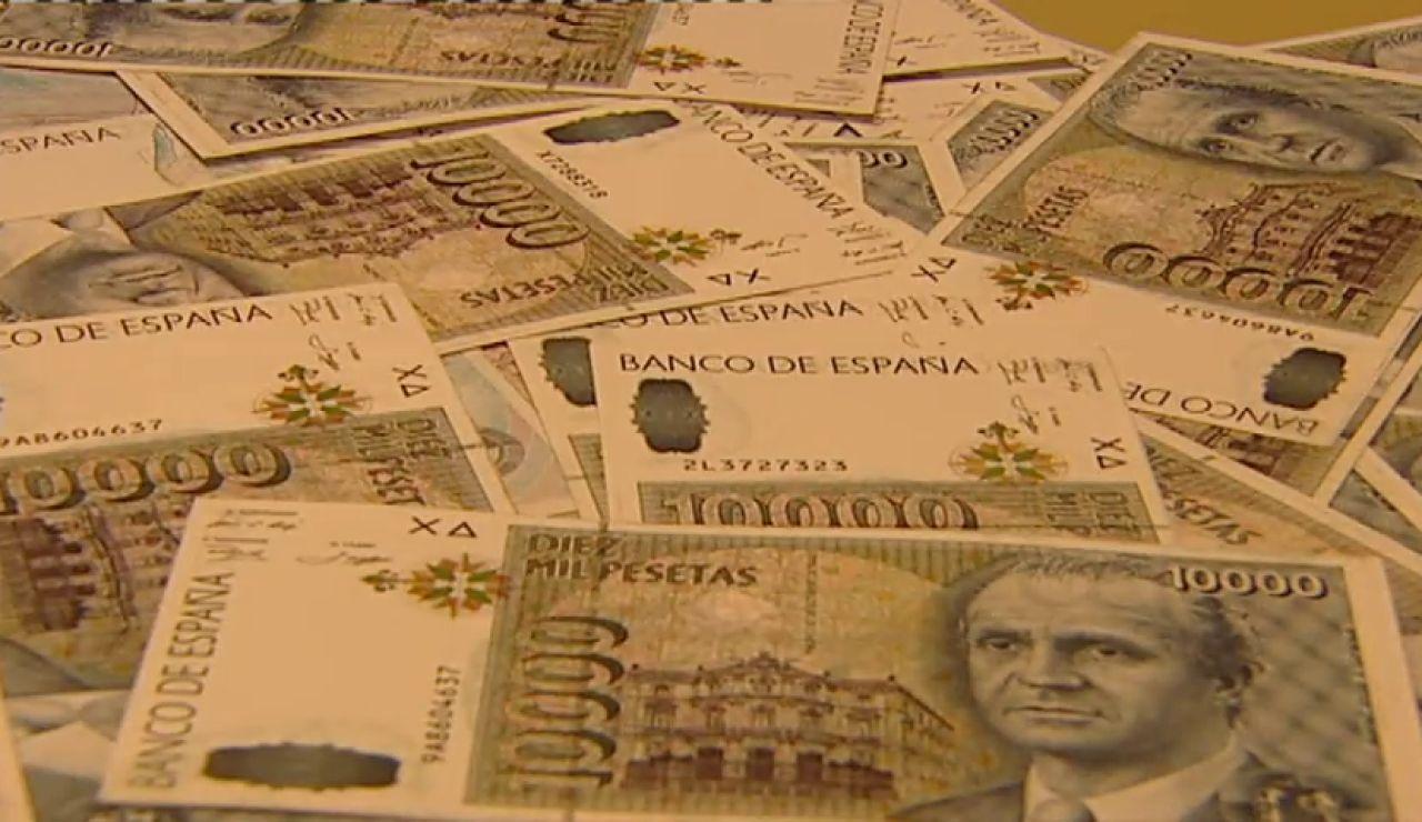 Frame 21.591656 de: Los españoles conservan 1.642 millones de euros en pesetas