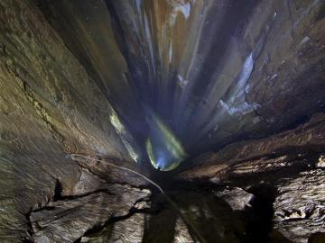 Imagen del pozo vertical situado en Cantabria