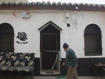 Local de Villafáfila en el que se ha producido el hundimiento del suelo