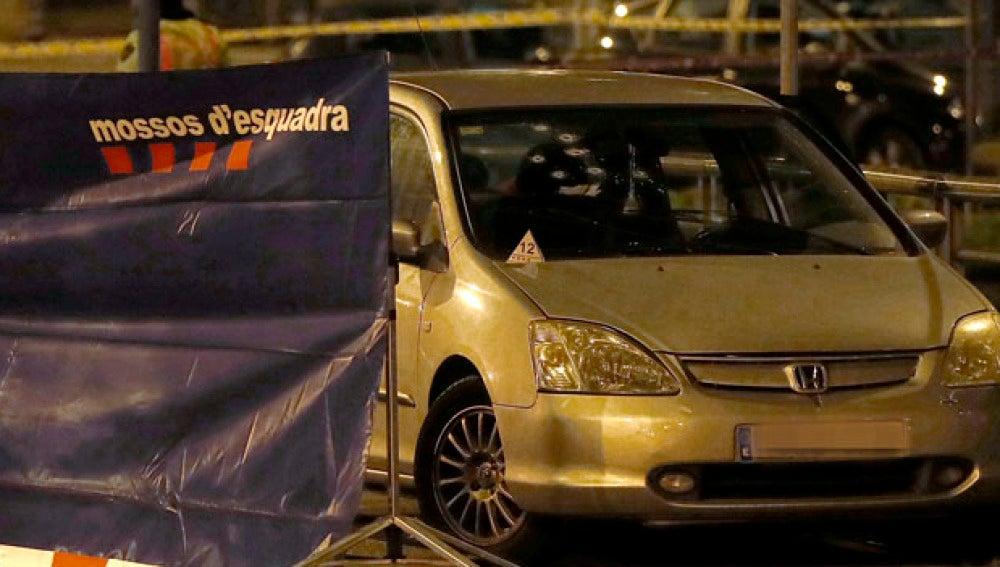 Escena del tiroteo en la avenida Meridiana de Barcelona