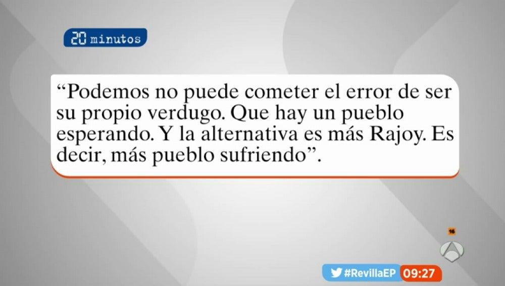 Artículo de Juan Carlos Monedero