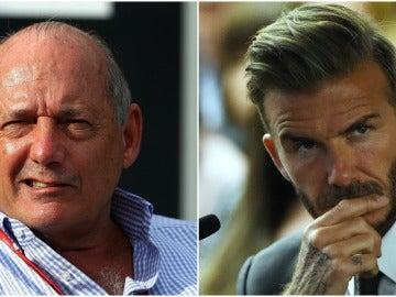 Ron Dennis y David Beckham