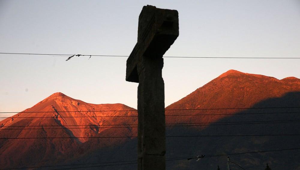 Vista del volcán de Acatenango