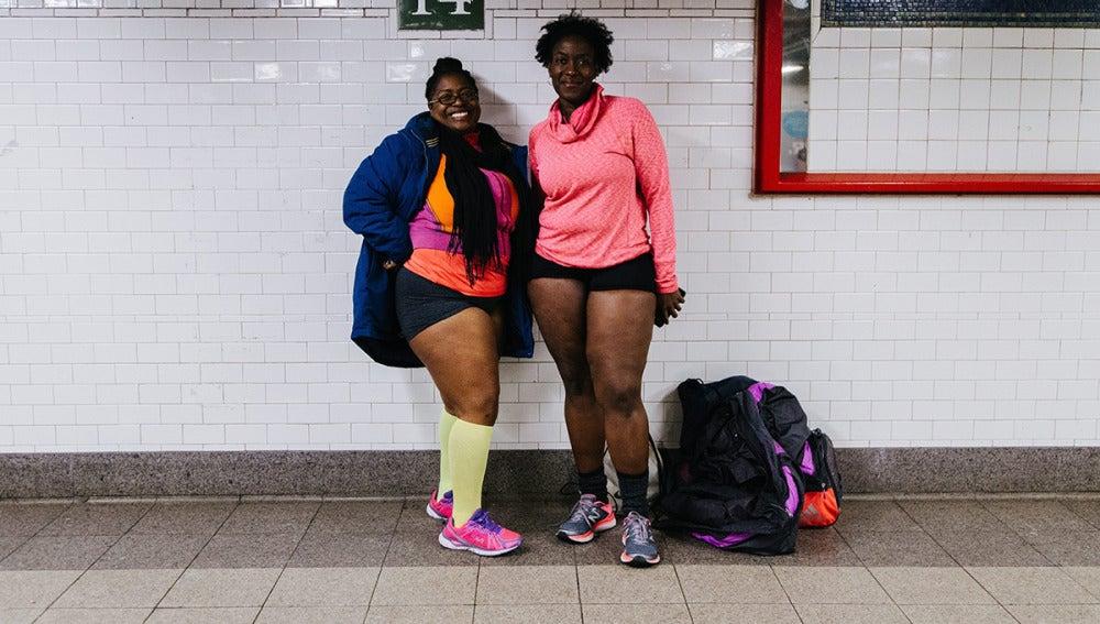 Usuarios del metro de Nueva York