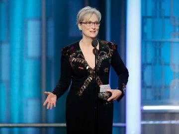Meryl Streep tras recibir su Globo de Oro