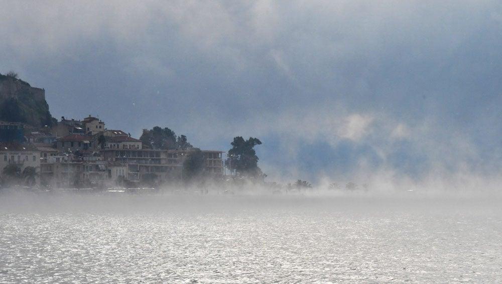 Temporal del frío en Grecia