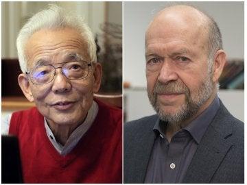Los climatólogos Syukuro Manabe (i) y James Hansen (d), premios BBVA