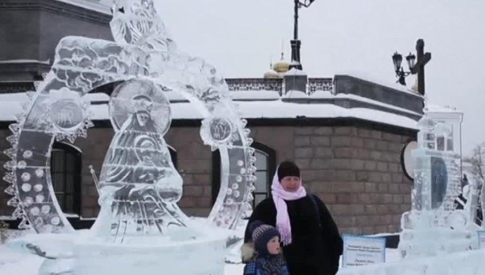 Esculturas de hielo en Rusia