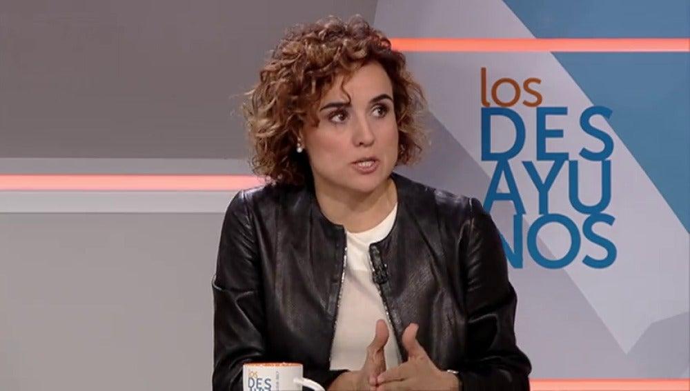 """Frame 50.976497 de: Montserrat: """"No alarmemos a los pensionistas, no se va a subir el copago"""""""